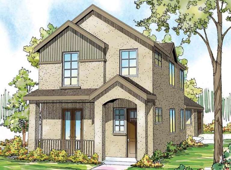 Southwest House Plan #035-00588 Elevation Photo