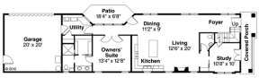 Floorplan 1 for House Plan #035-00588
