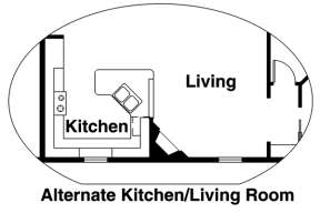 Alternate Kitchen for House Plan #035-00588