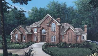 4 Bed, 3 Bath, 3222 Square Foot House Plan - #5633-00023