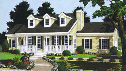 3 Bed, 2 Bath, 1331 Square Foot House Plan - #033-00002