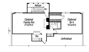 Floorplan 1 for House Plan #5633-00034