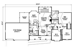 Floorplan 2 for House Plan #5633-00034