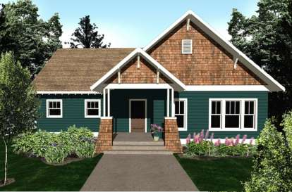 2 Bed, 2 Bath, 1229 Square Foot House Plan #5738-00001