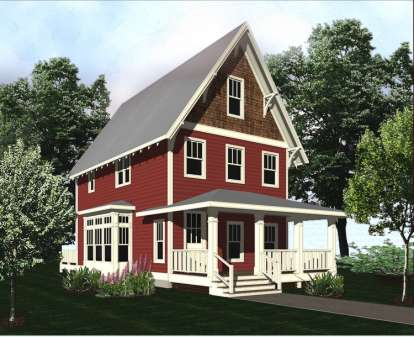 2 Bed, 2 Bath, 1343 Square Foot House Plan - #5738-00009