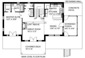 First Floor for House Plan #039-00170