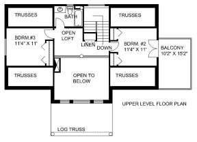 Second Floor for House Plan #039-00170