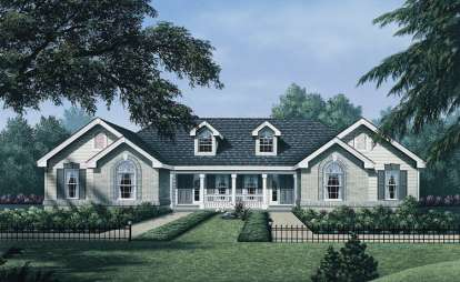 4 Bed, 2 Bath, 1700 Square Foot House Plan - #5633-00043