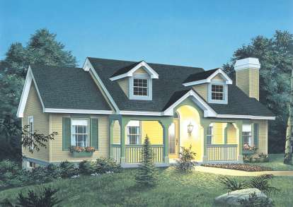 3 Bed, 2 Bath, 1140 Square Foot House Plan #5633-00047