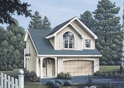 1 Bed, 1 Bath, 632 Square Foot House Plan - #5633-00057
