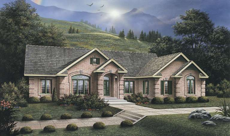 Ranch House Plan #5633-00067 Elevation Photo