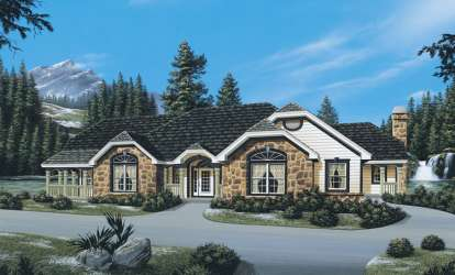 3 Bed, 2 Bath, 3133 Square Foot House Plan - #5633-00073