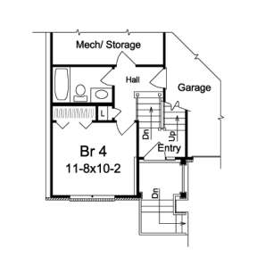 Floorplan 2 for House Plan #5633-00078