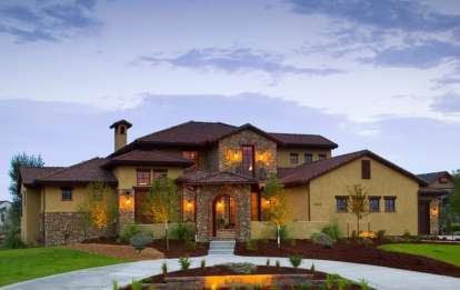 5 Bed, 4 Bath, 6041 Square Foot House Plan #5631-00017
