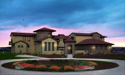 6 Bed, 5 Bath, 7521 Square Foot House Plan - #5631-00020