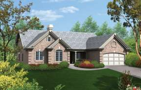 Ranch House Plan #5633-00082 Elevation Photo