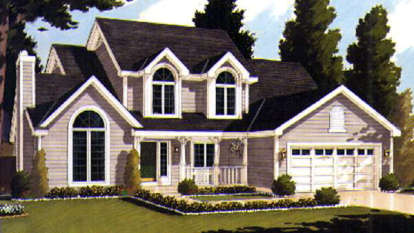 4 Bed, 2 Bath, 2196 Square Foot House Plan - #033-00003