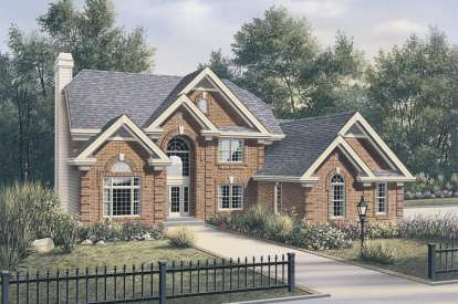 4 Bed, 3 Bath, 3657 Square Foot House Plan - #5633-00087