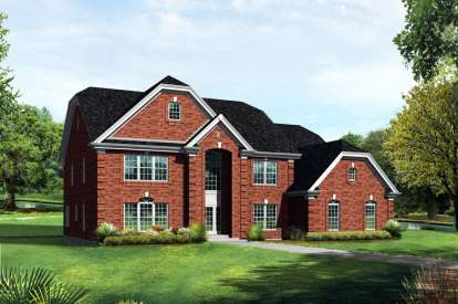 6 Bed, 4 Bath, 4269 Square Foot House Plan - #5633-00090