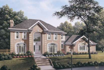 4 Bed, 3 Bath, 3420 Square Foot House Plan - #5633-00099