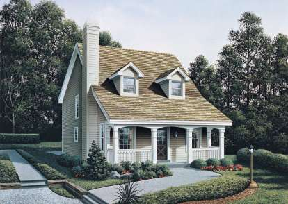 3 Bed, 2 Bath, 1299 Square Foot House Plan #5633-00103