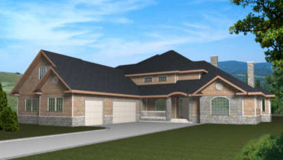 3 Bed, 2 Bath, 4650 Square Foot House Plan - #039-00180