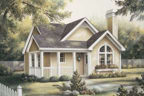 Ranch House Plan #5633-00115 Elevation Photo