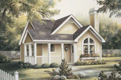 2 Bed, 2 Bath, 1084 Square Foot House Plan #5633-00115