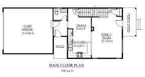 Floorplan 1 for House Plan #5631-00029
