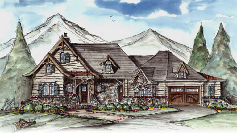 Mountain House Plan #699-00048 Elevation Photo