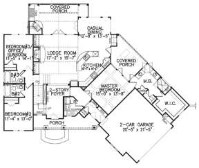 Floorplan 1 for House Plan #699-00048