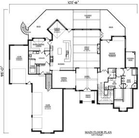 Floorplan 1 for House Plan #5631-00051