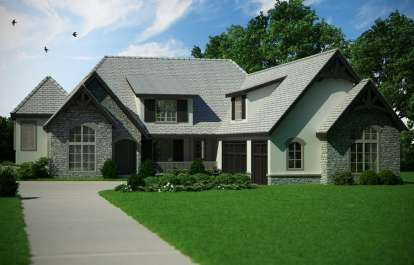 5 Bed, 4 Bath, 5683 Square Foot House Plan - #5631-00054