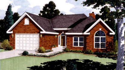 3 Bed, 2 Bath, 1513 Square Foot House Plan #033-00004