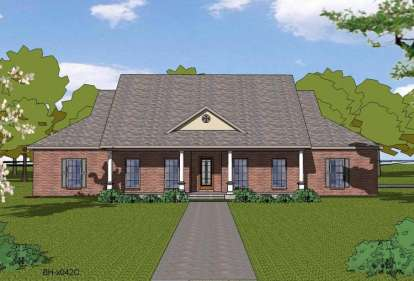 4 Bed, 2 Bath, 2408 Square Foot House Plan - #6471-00011