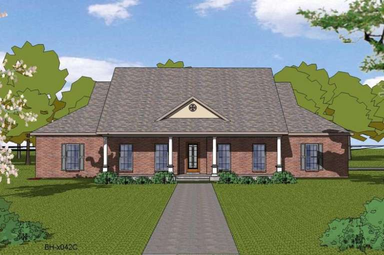 French Country House Plan #6471-00016 Elevation Photo