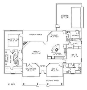Floorplan 1 for House Plan #6471-00016