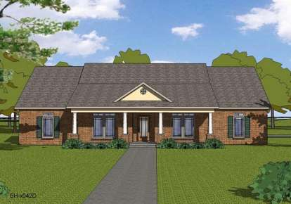 4 Bed, 2 Bath, 2408 Square Foot House Plan - #6471-00017