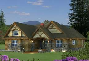 Mountain House Plan #098-00269 Elevation Photo