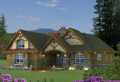 3 Bed, 3 Bath, 1858 Square Foot House Plan - #098-00269