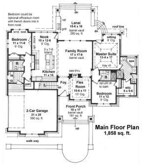 Floorplan 1 for House Plan #098-00269