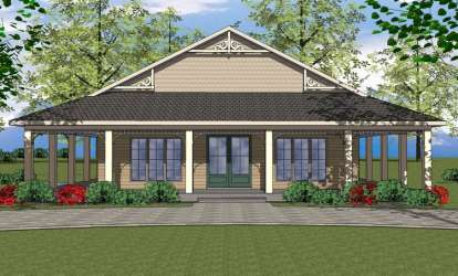 2 Bed, 2 Bath, 1225 Square Foot House Plan - #6471-00034