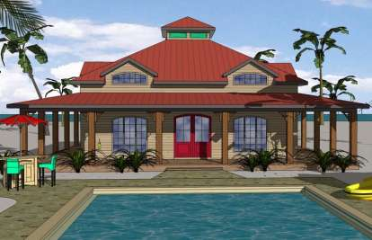2 Bed, 2 Bath, 1225 Square Foot House Plan - #6471-00035
