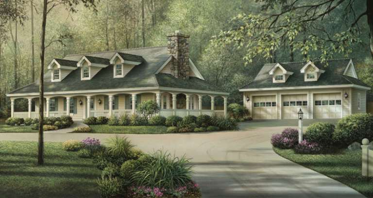 Country House Plan #5633-00134 Elevation Photo
