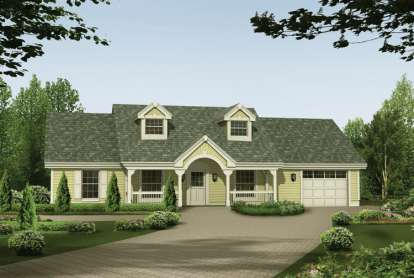 3 Bed, 2 Bath, 1365 Square Foot House Plan - #5633-00136