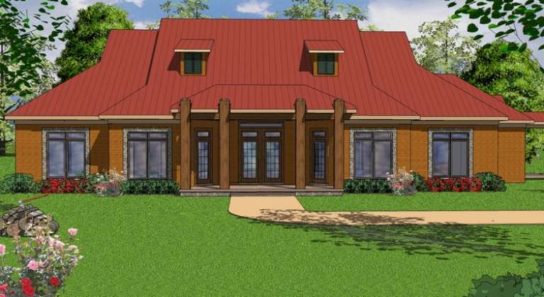 French Country House Plan #6471-00050 Elevation Photo