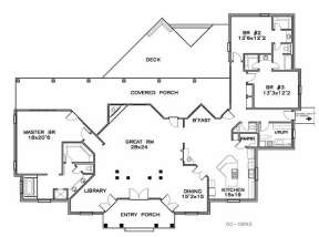 Floorplan 1 for House Plan #6471-00050