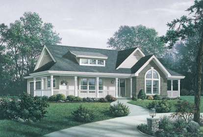 3 Bed, 2 Bath, 1591 Square Foot House Plan #5633-00150