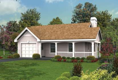 1 Bed, 1 Bath, 480 Square Foot House Plan - #5633-00152