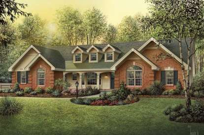 4 Bed, 3 Bath, 1929 Square Foot House Plan #5633-00154